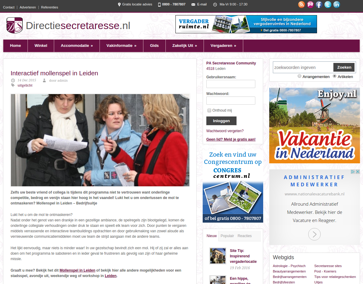 0984afd145d Advertorial – Secretaresse Marketing